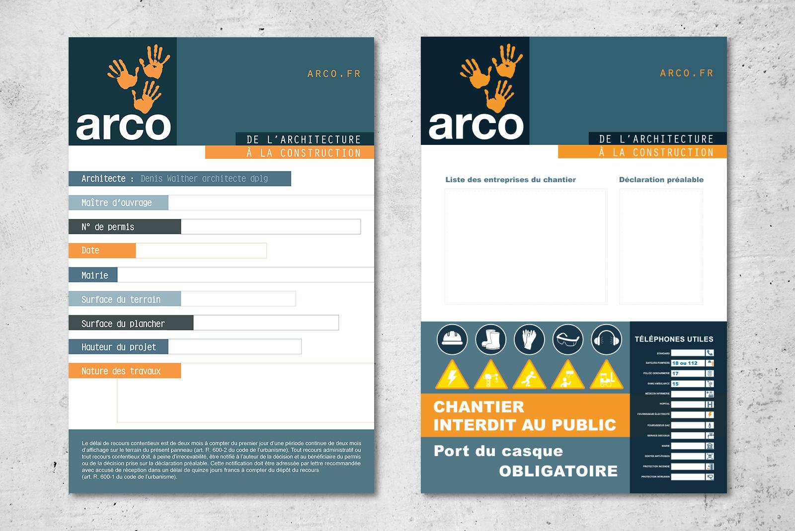 Signalétique Arco