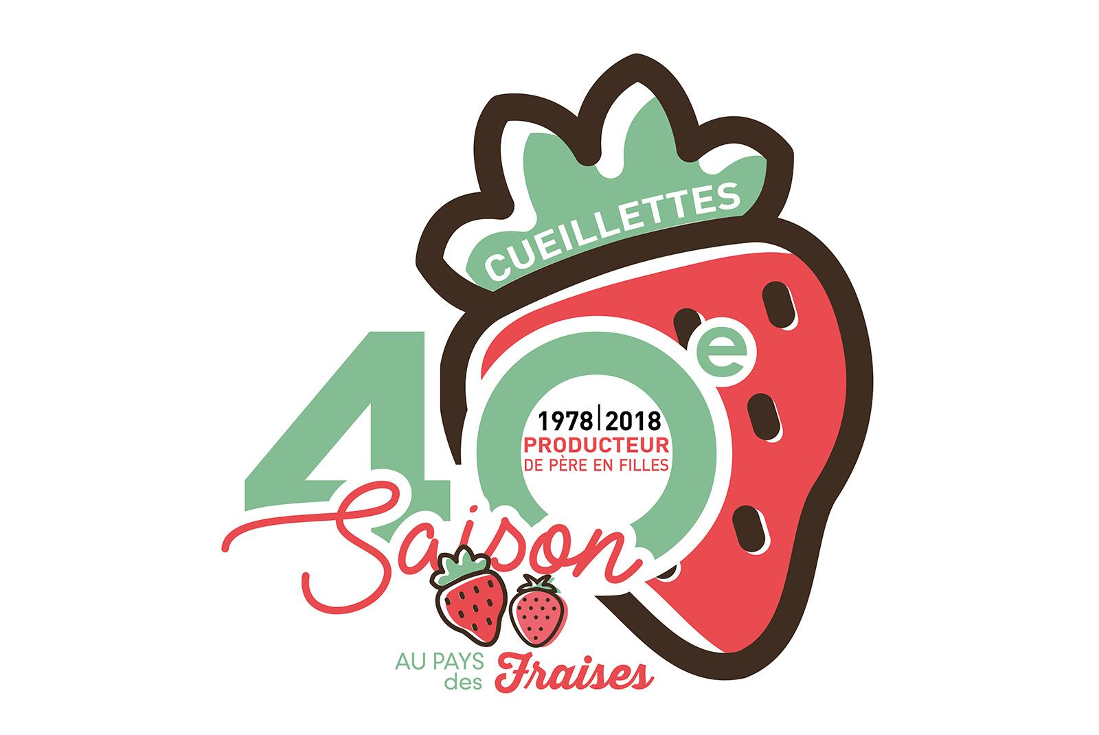 Logo 40 ans Au Pays des Fraises