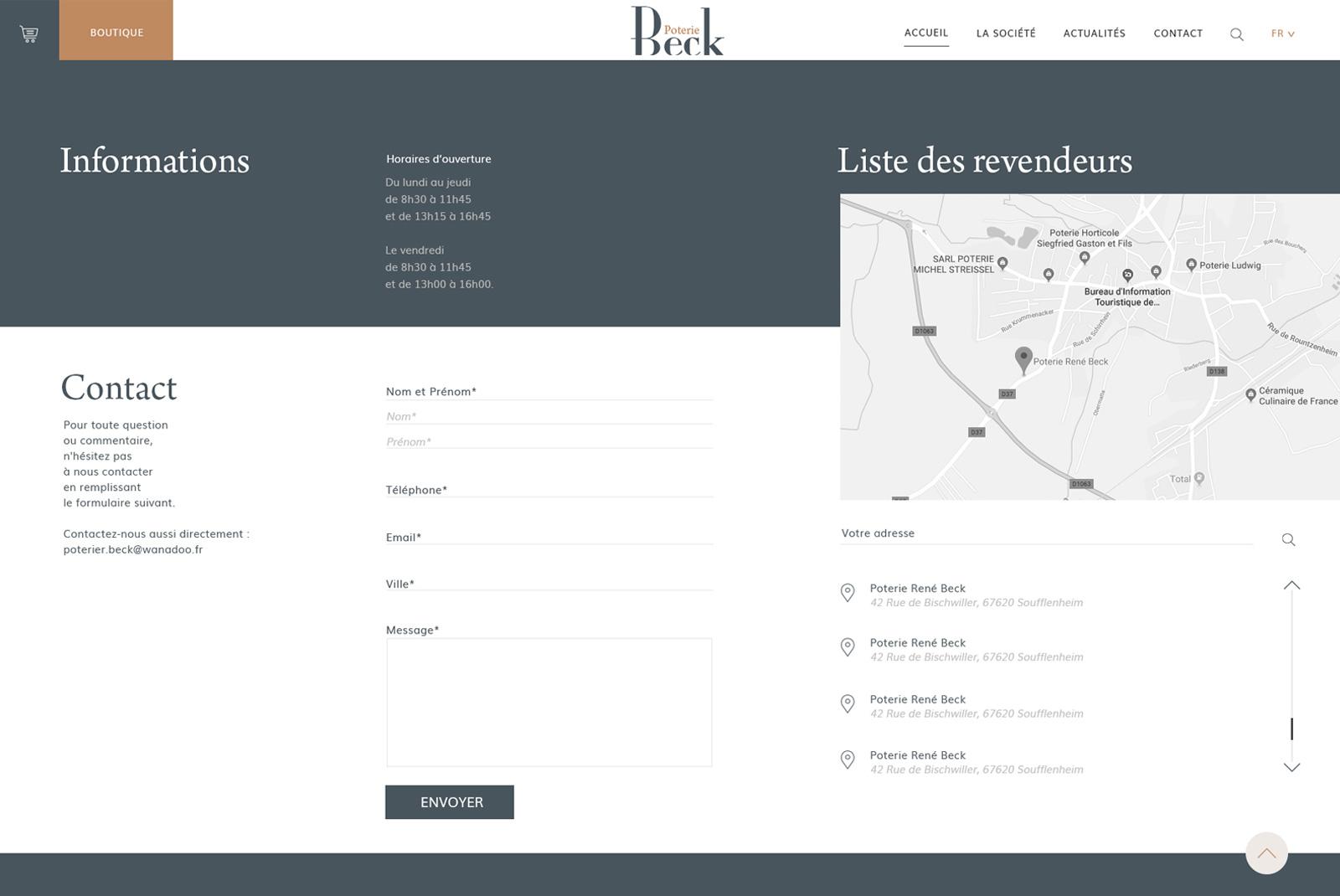 Site Internet Beck