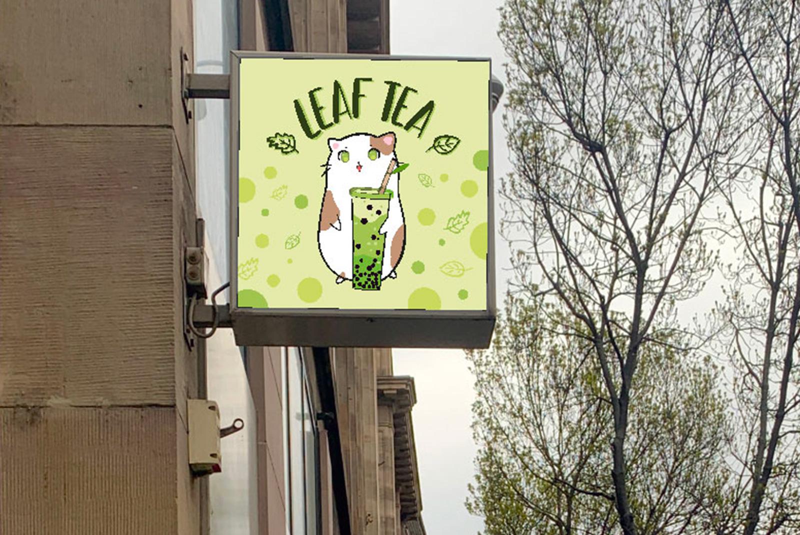 Signalétique enseigne LEAF TEA