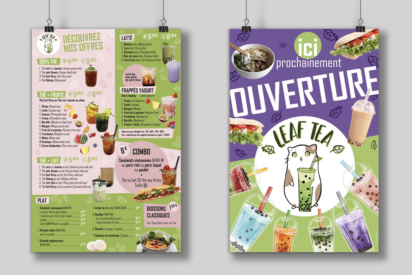 Print affiche Leaf Tea