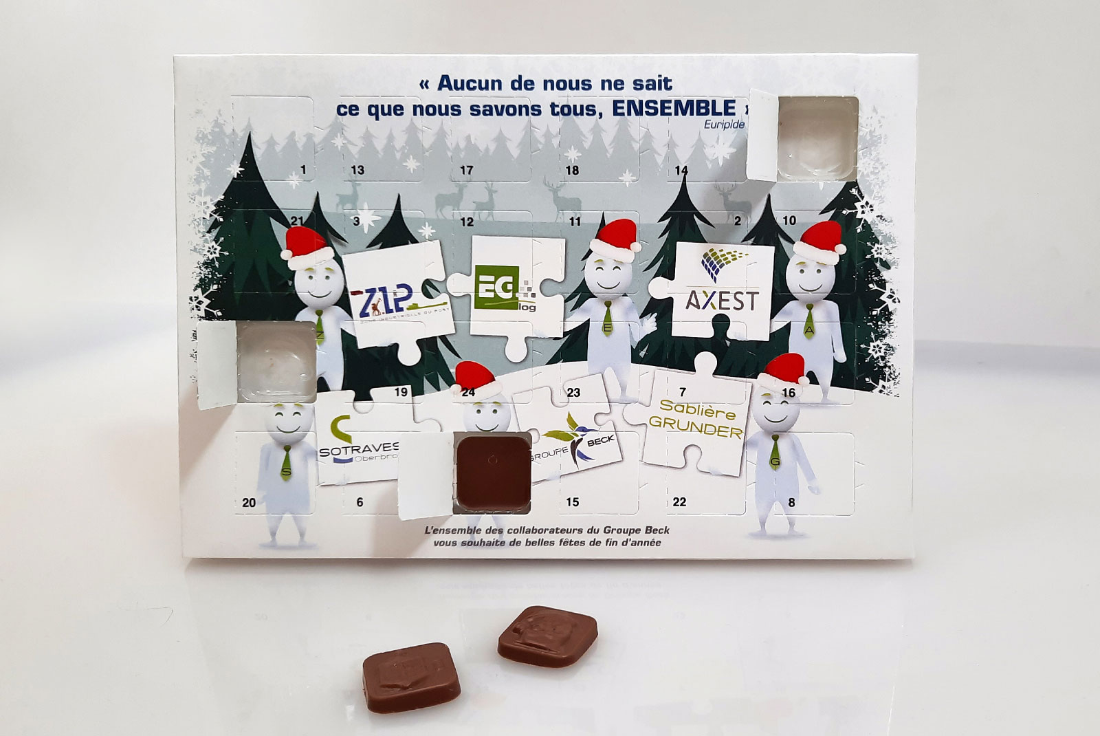 Calendrier avent Sotravest